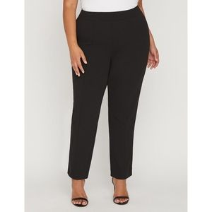 NWT CATHERINES Crepe Knit Pants in Black